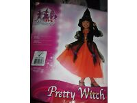 GIRLS PRETTY WITCH FANCY DRESS OUTFIT AGE 5/7 YEARS PARTY OR WORLD BOOK DAY BRAND NEW
