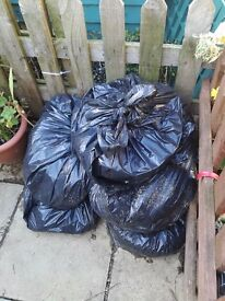 """FREE"" Bags of Rabbit manure/compost/poo ""FREE"" great for the garden/allotment"