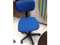 Blue office chair ideal for computer work good condition to collect only
