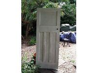 Pannelled wooden door