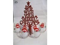 CHRISTMAS TREE DECORATIONS HANGING ORNAMENTS XMAS CANDLE SETS HAMPERS ALL £5 and under