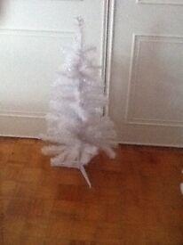 White glitter Christmas tree 3 ft