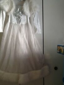 Girls Princess Dresses - Age 7-8 years