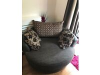 Swivel sofa. Half leather. Barely used. Some and pet free house.