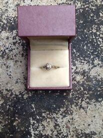 9 caret 9 diamonds ring