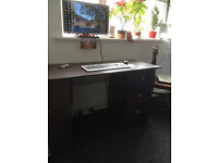 Desk for sale (dark brown, good condition)