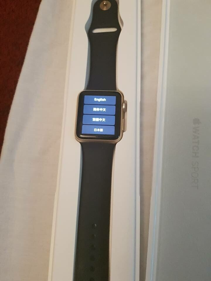 Apple watch series 1 42mm screenin DundeeGumtree - Apple watch series 1 42mm screen gold aluminium with Midnight blue long and short bands and all official boxes and charger. excellent condition used for 1 year. Selling due to changing phone to a Samsung