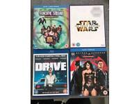 Blu-ray dvds - Suicide Squad, The Force Awakens, Drive, Batman v Superman