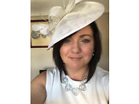 Beautiful Phase 8 white fascinator worn once