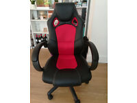 Racing style office chair - Red & black! Makes a great addition to any room!