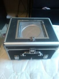 Large make-up storage box. With LED lights and mirror.
