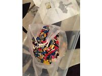 carrier bag full of mixed lego for sale