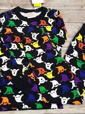 Hanna Andersson Halloween Bright Ghosties Ghost Long Johns size 110, 140, 150
