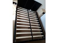 4ft6 faux leather Double Bed Frame black colour modern design