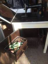 Vintage Singer 201K Treadle Sewing Machine in Cabinet Glenfield Campbelltown Area Preview