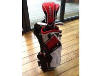 Junior golf set, ideally ages 9-12, Fazer 3.0 Red from American golf. Excellent condition