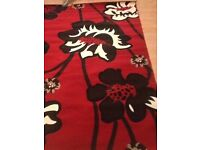 Red /black large rug new