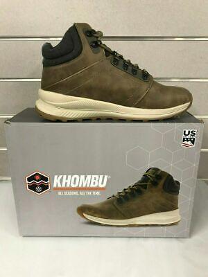 Khombu Mens Leather Waterproof Memory Foam Lightweight Hiking Trail Boots Size 9