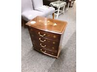 Brass mahogany chest drawers Copley Mill LOW COST MOVES 2nd Hand Furniture STALYBRIDGE SK15 3DN