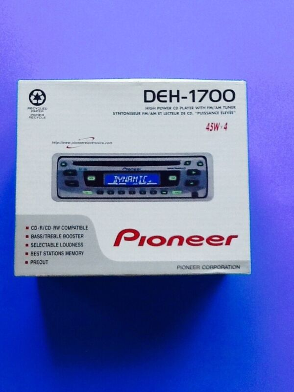 Pioneer DEH-1700 Car Stereo w/High Power CD player, FM/AM Tuner-Super Tuner-New