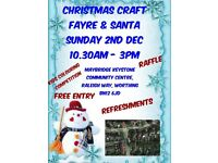 CHRISTMAS CRAFT FAYRE WITH SANTA, MAYBRIDGE CENTRE, GORING WEST SUSSEX GIFTS PRESENTS