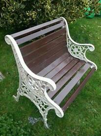 Cast ironn garden bench