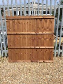 6 x 6 Closeboard Fence Panels
