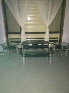 Glass Tv unit with accessories Plumpton Blacktown Area Preview