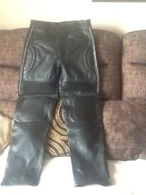 Motor cycle leather jeans