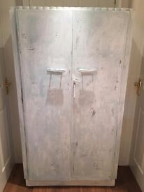 shabby chic wardrobe with matching side table