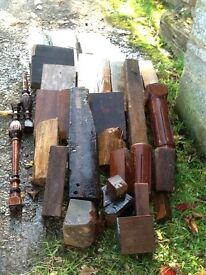 Selection of turning wood, well seasioned