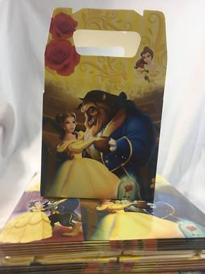 Disney  Beauty and the Beast Party Favor Treat Box *10Ct* Loot Goody Candy Box (Beauty And The Beast Party)
