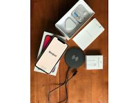 Apple iPhone X 64gb boxed space grey+ Bluetooth ear phones+ wireless charger+2m charger+ case extras
