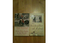 2 Asne Seierstad Books - Booksteller of Kabul & With Their Backs to the World (Signed by Author)