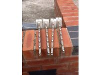 Set 4 Waterfall Arms for Grid or Slat Wall Clothes Shop Display USED