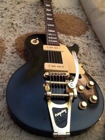 1997 Gibson Les Paul Studio Gem Series Emerald Green With Bigsby and Gibson Hard Case