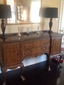 Antique Walnut Dining Room Furniture