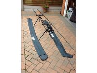 Shimano Power Loop Carp Rods 11ft Pair with reels and pod