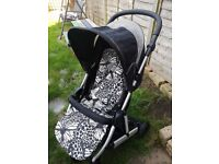 Mammas & Pappas Pushchair in Black from baby to toddler