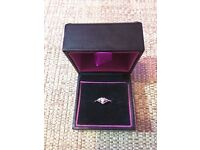 9ct White Gold Ring With Pink Heart Sapphire