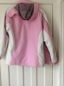 Ladies pink ski jacket