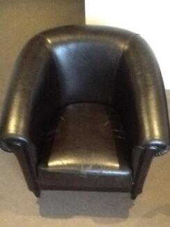 Leather Club Chair Mordialloc Kingston Area Preview