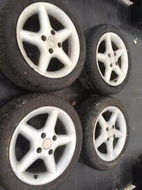 195/50/15 Routeway Ecoblue tyres x4. on bk racing wheels