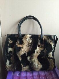 River island fur handbag & fur purse can post