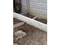 Concrete post and gravel board