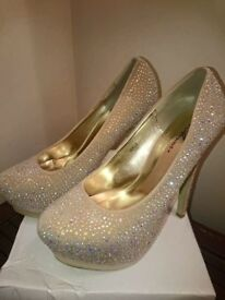 Brand new diamante shoes