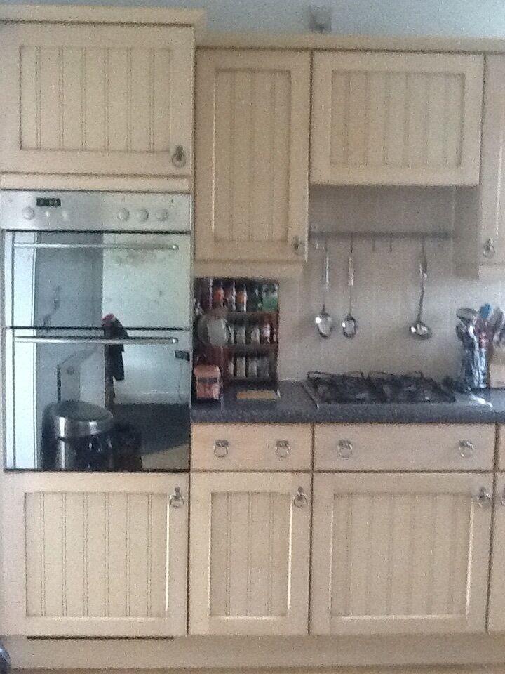 Kitchen base and wall units double oven housing fridge for Double kitchen base unit