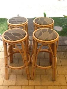 4 cane bar stools Rockingham Rockingham Area Preview