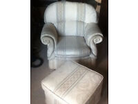 Chair and Footstool (Airdrie)