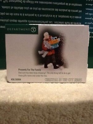 Dept 56 Christmas In The City - Presents For The Family - #58994 - Mint - Rare